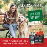 beef burger dinner grain free beef dog food - pure ingreidents