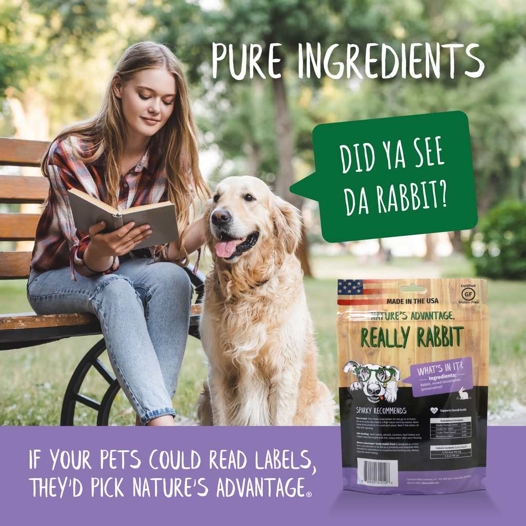 Really Rabbit Grain Free Rabbit Dog Treats, rabbit for dogs - pure ingredients