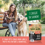 Savor'n Salmon Dog Treats, dog training treats, healthy dog treats - pure ingredients
