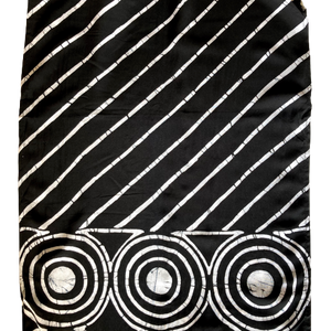 Black & White Womens Scarf - Water Pattern