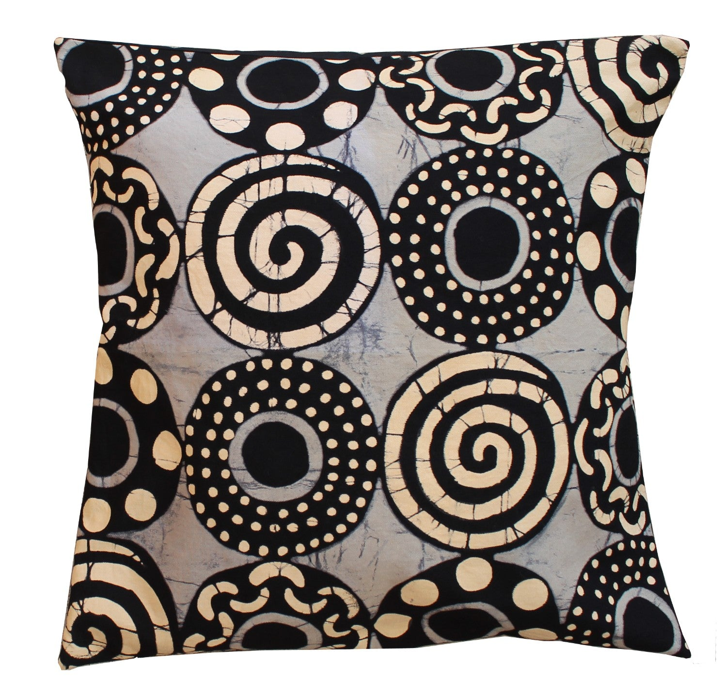 Throw Pillow Cover - No Sun Circles & Spirals