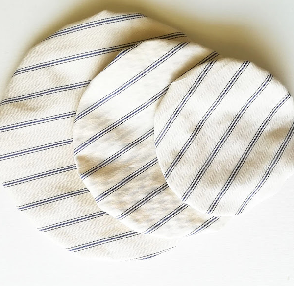 Blue Stripe Reusable Bowl Cover Set