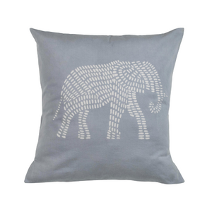 Throw Pillow Cover - Silver Elephant