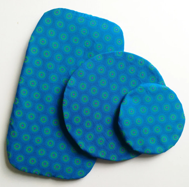 Blue Starburst Reusable Dish Cover Set