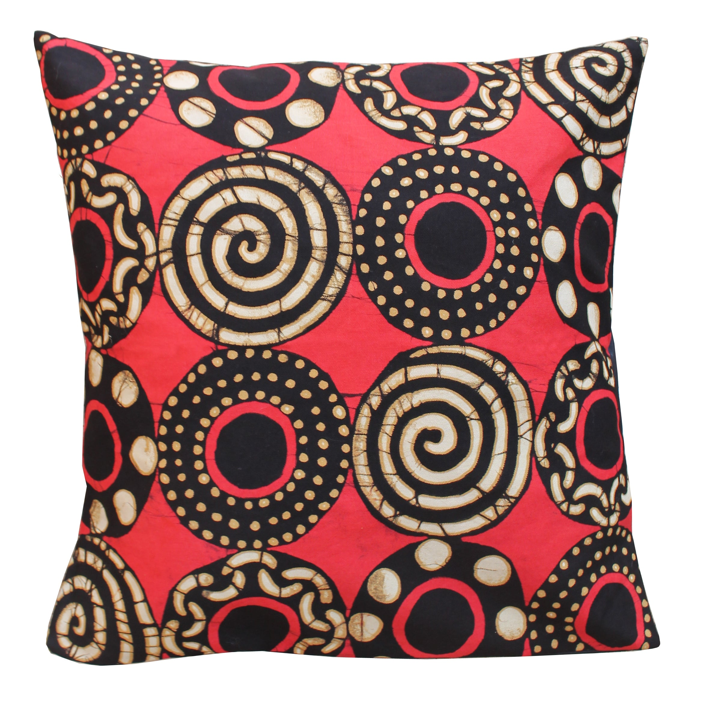Throw Pillow Cover - Setting Sun Circles & Spirals