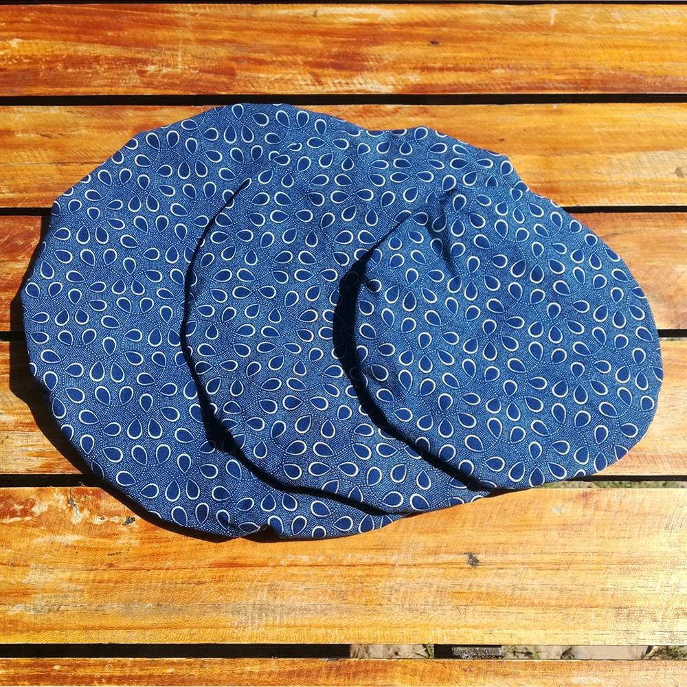 Blue Teardrop Reusable Bowl Cover Set