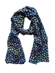Stained Glass Blue - Womens Scarf