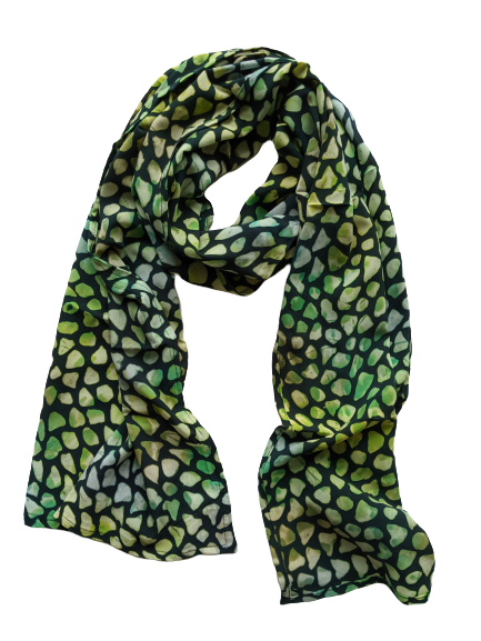 Stained Glass Green - Womens Long Scarf