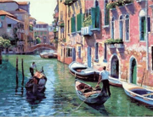 A BEAUTIFUL VIEW IN VENICE – DIY PAINTING BY NUMBERS KIT