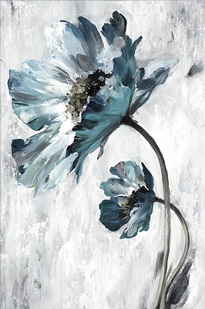 ABSTRACT BLUE FLOWER- DIY PAINTING BY NUMBERS KIT