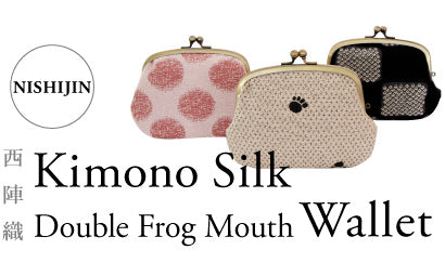 Made in Japan Kimono Silk double frog mouth wallet