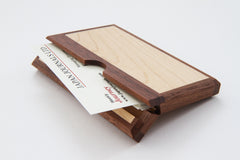 ASAHIKAWA Wooden Business Card Holder Maple & Walnut