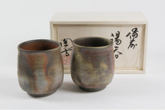 A pair of Tea Cups in a Paulownia wood box