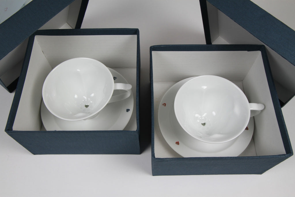 Teacup & Saucer Set | Red & Blue A la carte
