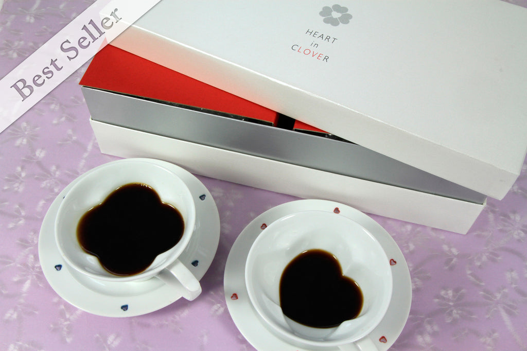 Teacup & Saucer Set | Red & Blue in a Giftbox