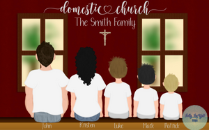 Domestic Church Custom Family Portrait