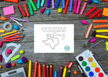Load image into Gallery viewer, Texas Strong Coloring Spiritual Card