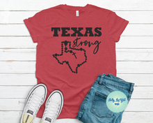Load image into Gallery viewer, Texas Strong T-shirt Red
