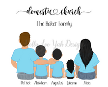 Load image into Gallery viewer, Domestic Church Custom Family Portrait