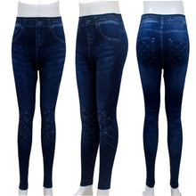 Load image into Gallery viewer, Leggings Denim Jeans Leggings Long Pocket Printing