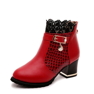 New Lace Fashion High Heels Women Boots