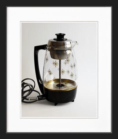 coffee percolator black frame