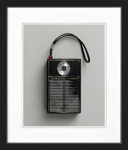 Black FM radio black frame