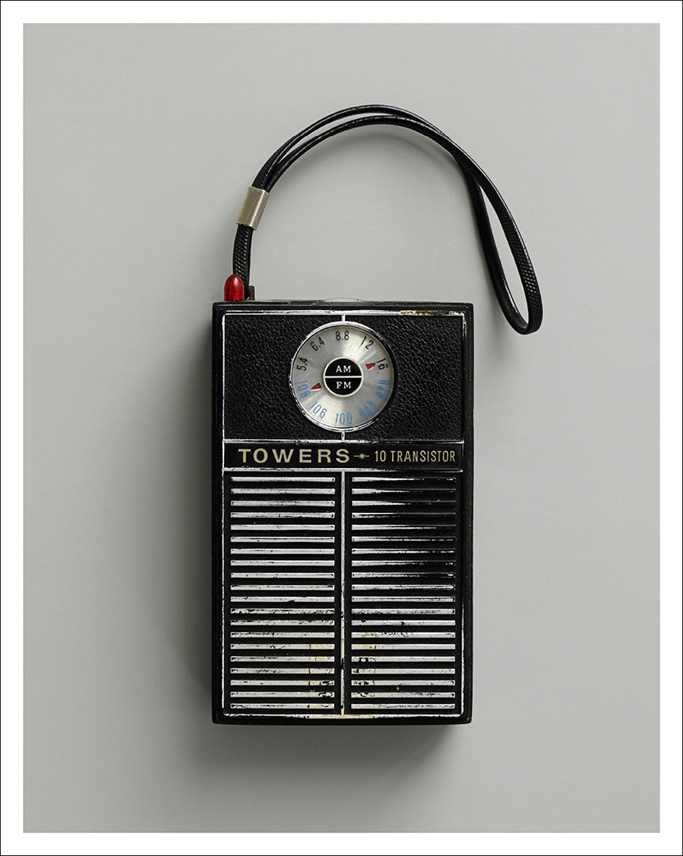 Black FM radio unframed