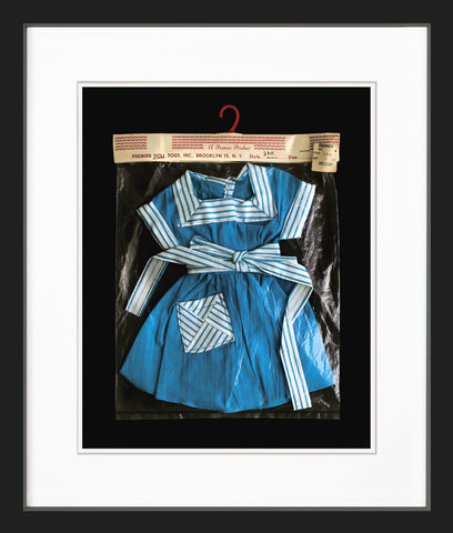 dolls dress black frame
