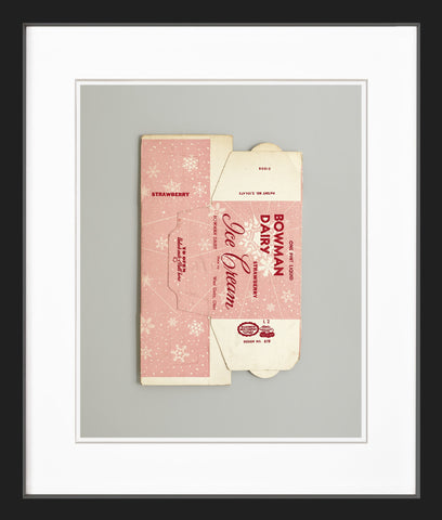 Vintage ice cream box black frame