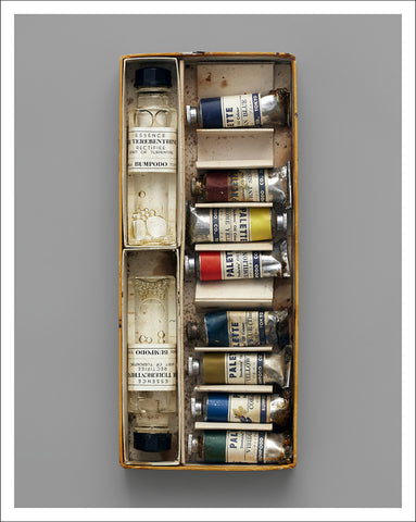 box of oil paints unframed