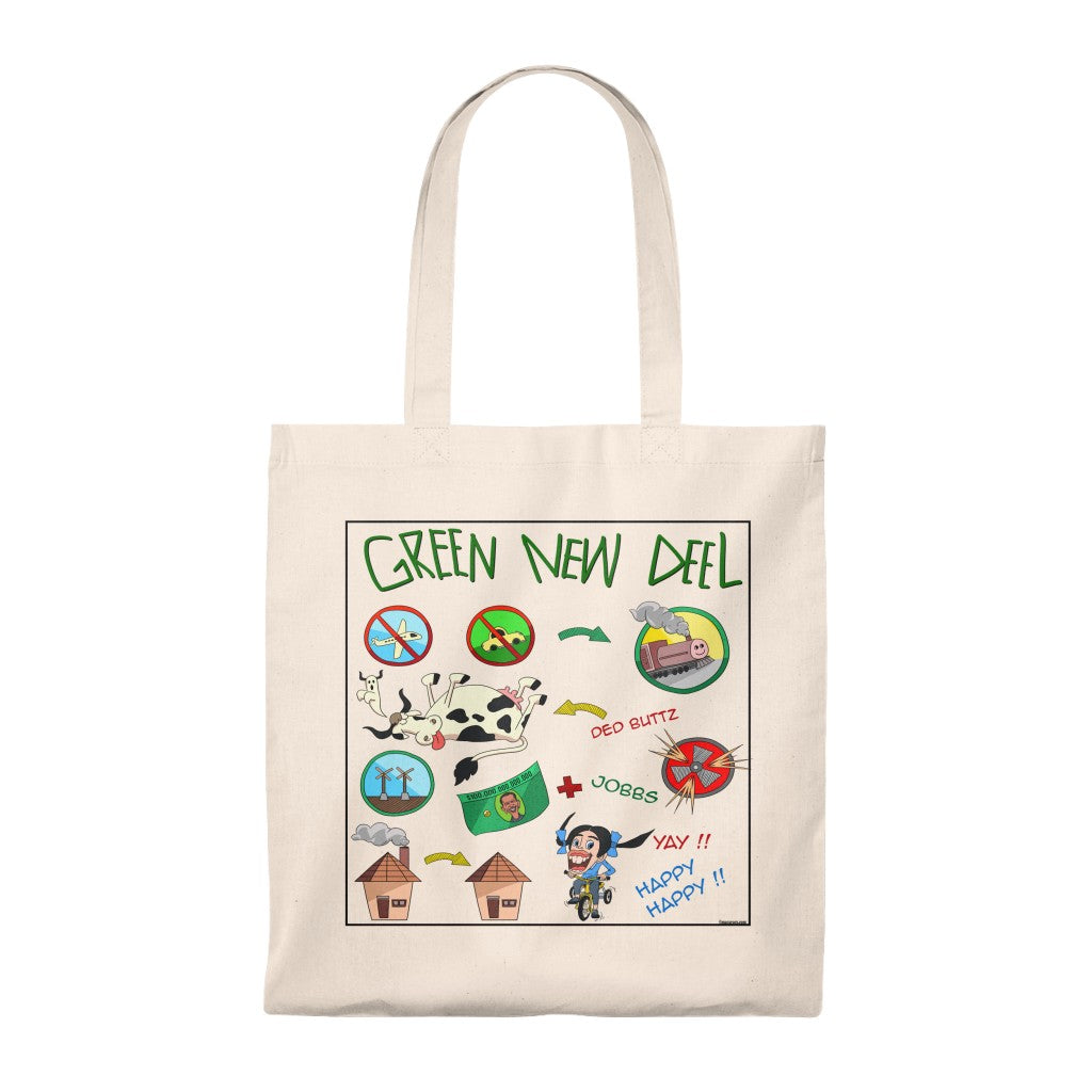 Green Mockery Tote Bag - Vintage