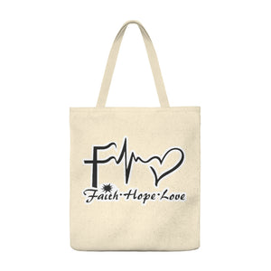 Faith.Hope.Love. Shoulder Tote Bag - Roomy