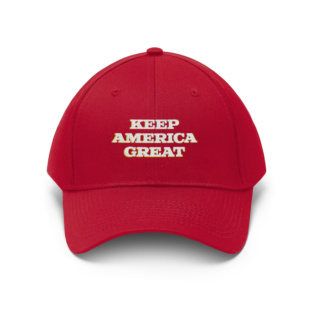 Keep America Great Embroidered Gold