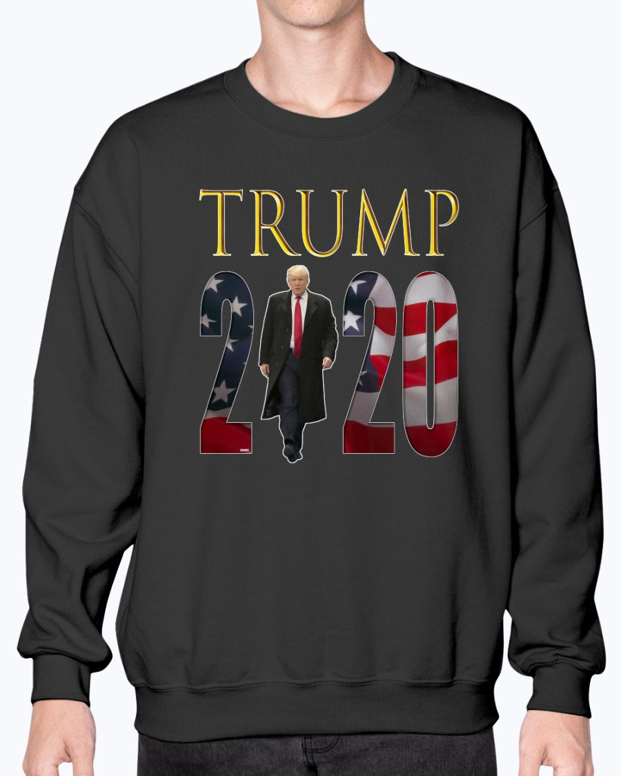 """The Boss"" TRUMP 2020 Gildan Sweatshirt - Crew for Men/Women"