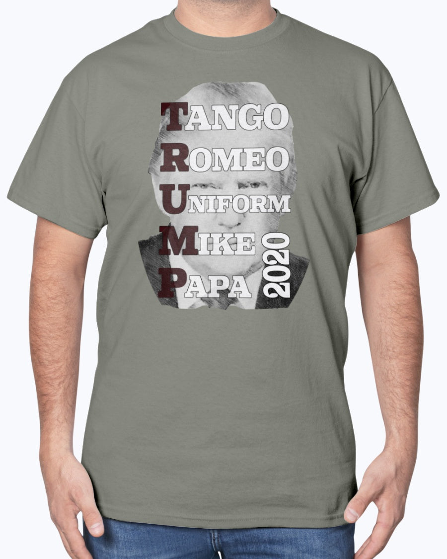Tango Romeo Trump 2020 Gildan Cotton T-Shirt for men and women