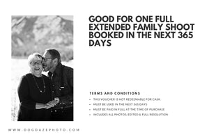 BUY ONE GET ONE FREE Extended Family Shoot Gift Card