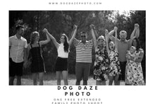 Load image into Gallery viewer, BUY ONE GET ONE FREE Extended Family Shoot Gift Card