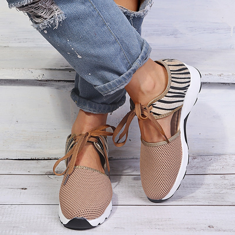 Comfy Mesh Slit Sneakers