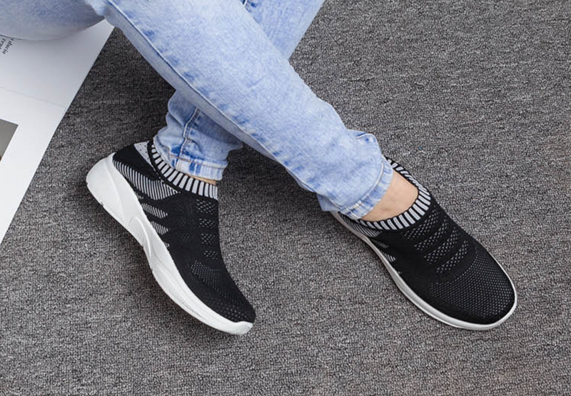 Casual Slip On Breathable Knitted Shoes