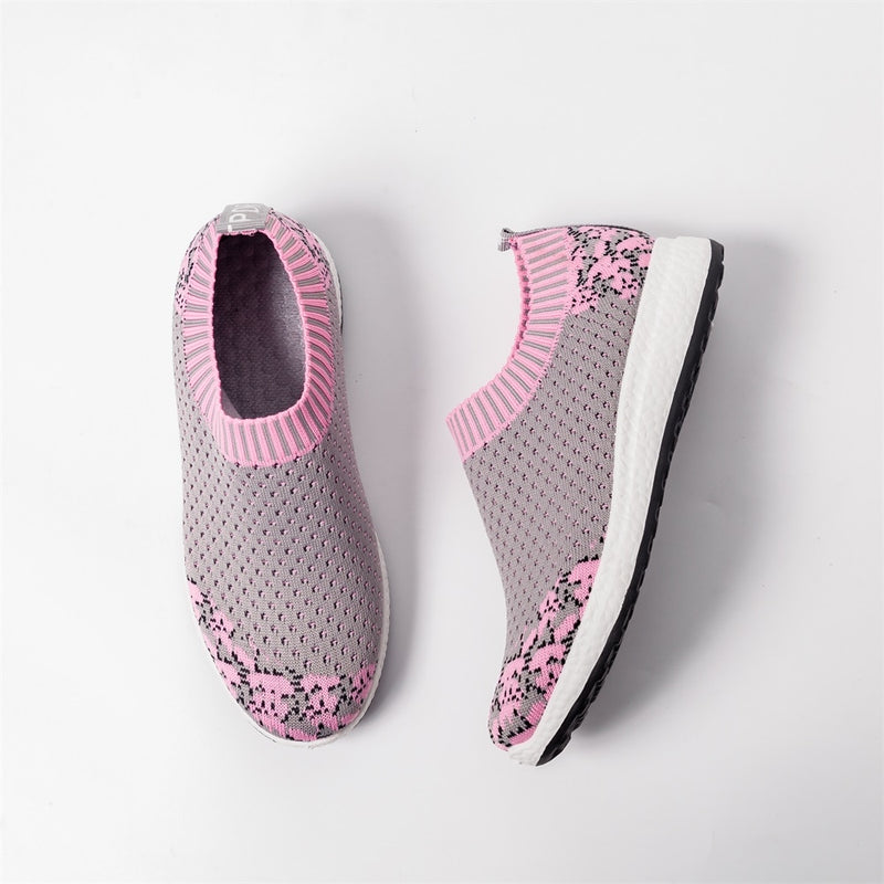Floral Knitted Slip-on Shoes
