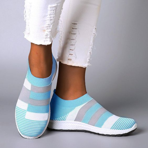 Pattern Knitted Slip-On Sneakers