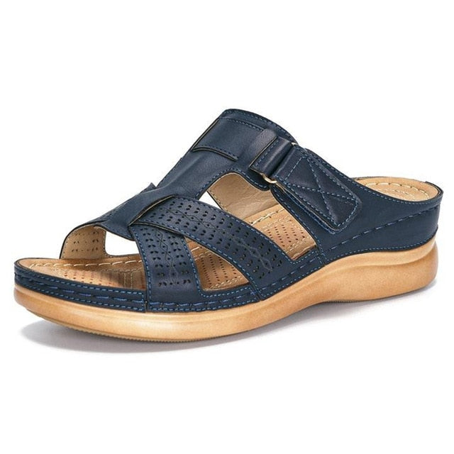 Comfy Leather Strap Sandals