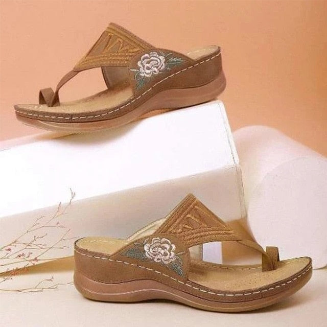 Comfy Embroidery Sandals