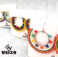 Load image into Gallery viewer, Zulu Beaded Half Circle Earrings
