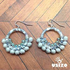 Safari Acrylic Hoops