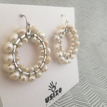 Load image into Gallery viewer, Pearl Circle Earrings