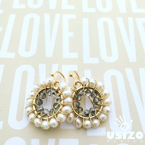 Baby O Pearl Circle Earrings