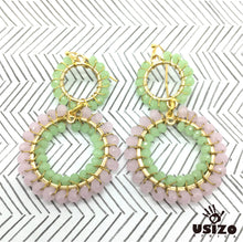 Load image into Gallery viewer, Double Crystal Circle Earrings