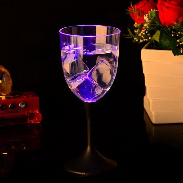 10oz Led flashing plastic red wine cup